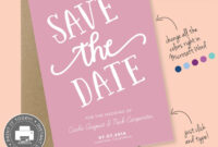 Save The Date Printable Template For Microsoft Word – Carla with Save The Date Templates Word
