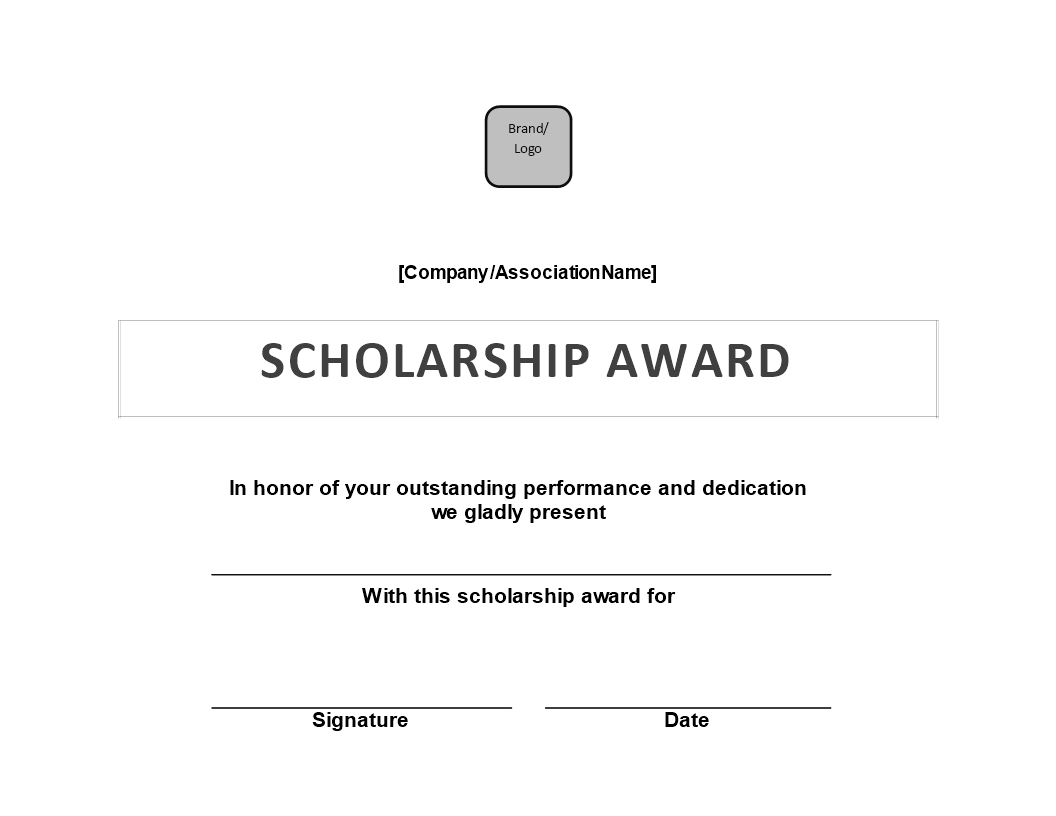 Scholarship Award Certificate | Templates At Inside Scholarship Certificate Template