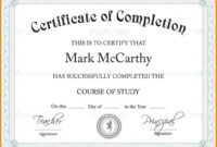 Scholarship Certificate Template | Template Business Format throughout Certificate Templates For School