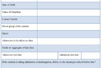 School Registration Form : Sample Forms throughout School Registration Form Template Word