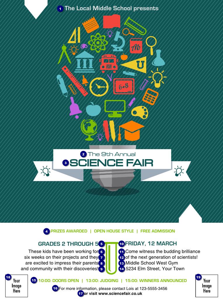 Science Fair Flyer | Science Fair Flyer - Ticket Printing Inside Science Fair Banner Template