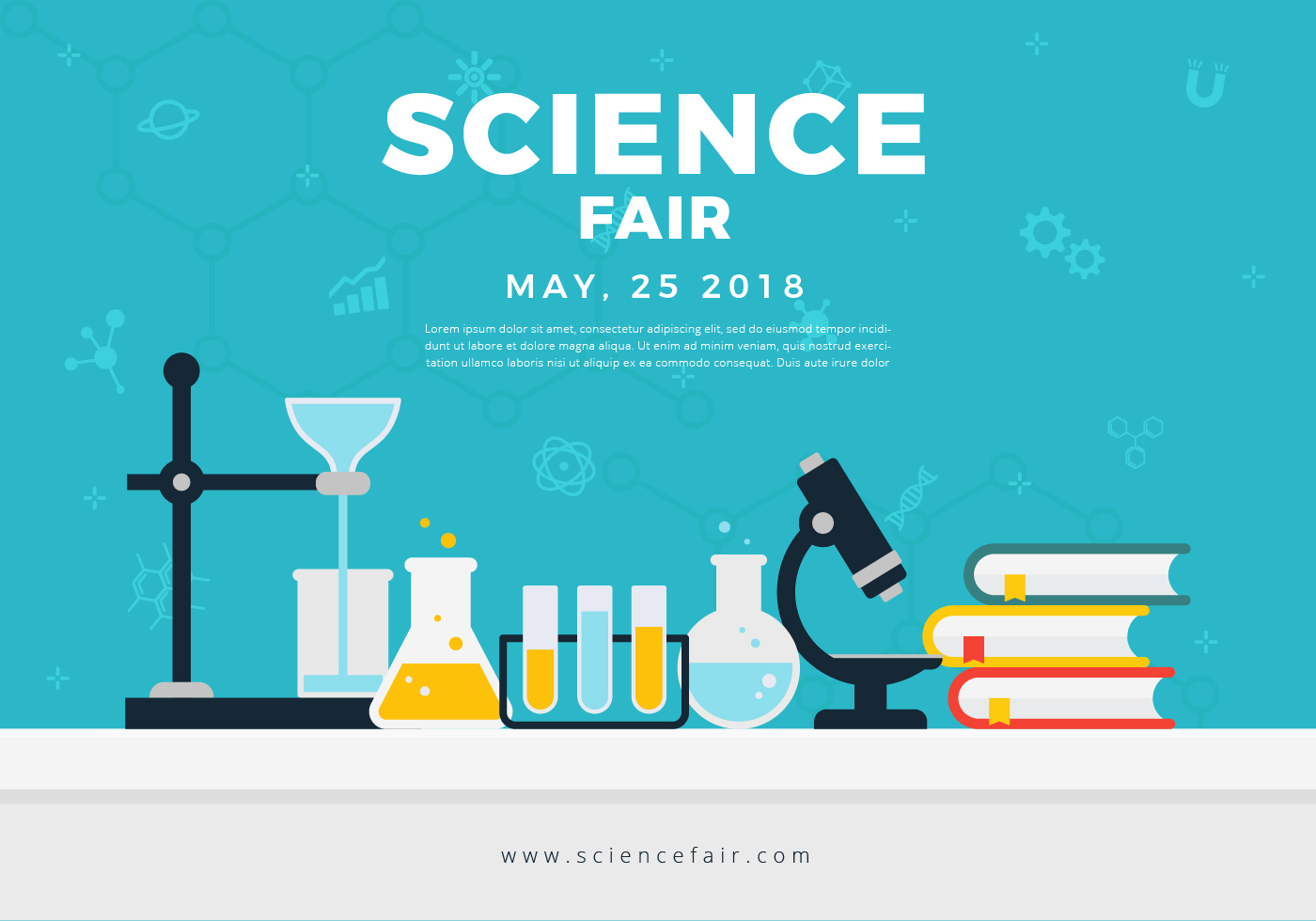 Science Fair Poster Banner - Download Free Vectors, Clipart For Science Fair Banner Template