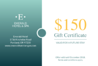 Seaside Hotel Gift Certificate Template | Free Branding throughout Gift Certificate Template Indesign