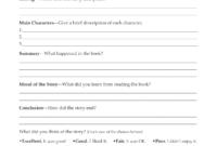 Second Grade Book Report Template   Book Report Form Grades for Book Report Template 4Th Grade