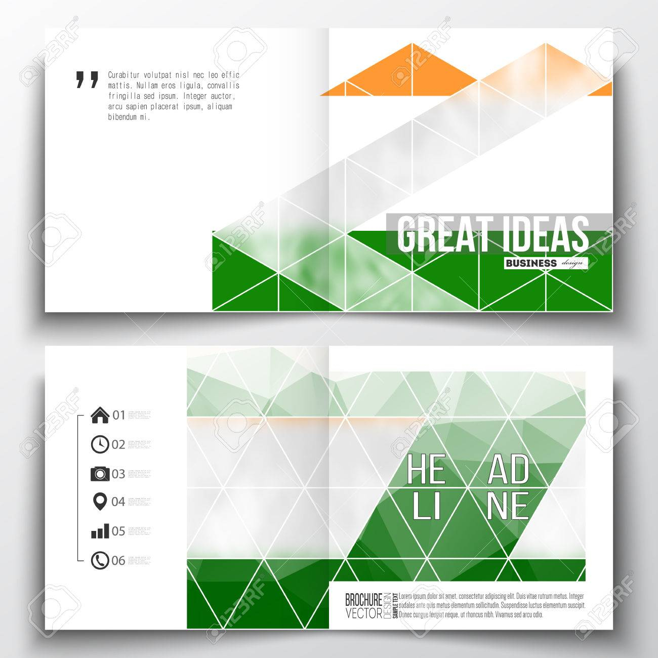Set Of Annual Report Business Templates For Brochure, Magazine,.. Inside Ind Annual Report Template