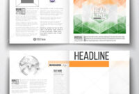 Set Of Annual Report Business Templates For Brochure With Ind Annual Report Template