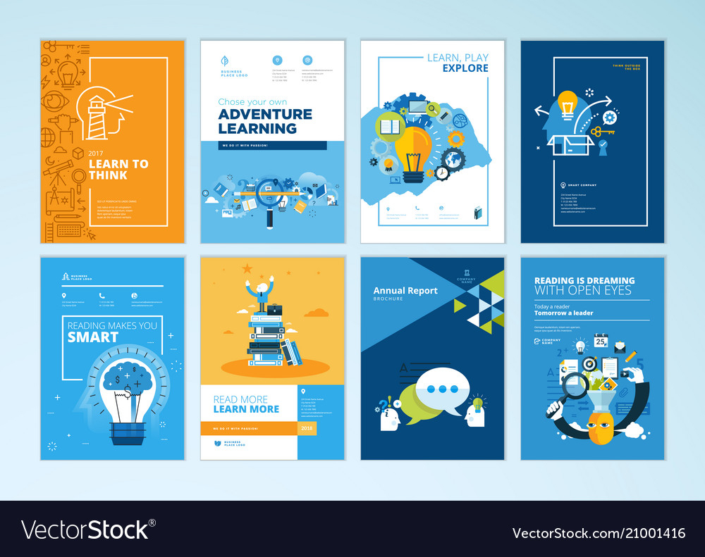 Set Of Brochure Design Templates Of Education Regarding Brochure Design Templates For Education