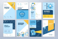 Set Of Brochure Design Templates On The Subject Of Education,.. intended for Brochure Design Templates For Education