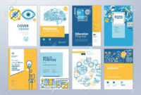 Set Of Brochure Design Templates On The Subject Of Education,.. with regard to Brochure Design Templates For Education