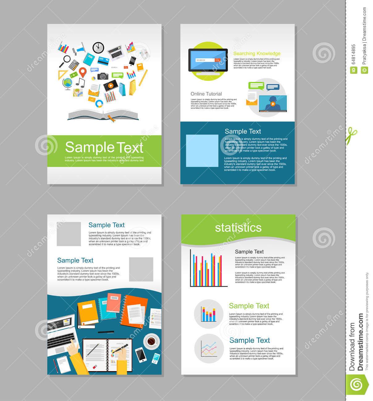 Set Of Flyer. Brochure Design Templates. Education With Brochure Design Templates For Education