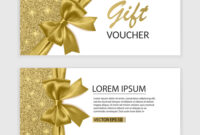 Set Of Gift Voucher Card Template Advertising Or regarding Advertising Card Template