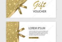 Set Of Gift Voucher Card Template, Advertising Or Sale in Advertising Card Template