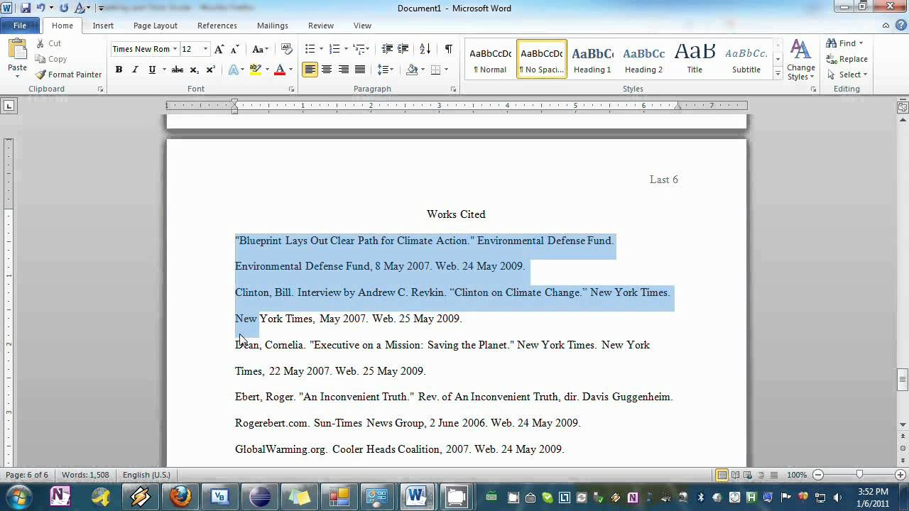 Setting Your Essay To Mla Format In Word With Mla Format Word Template