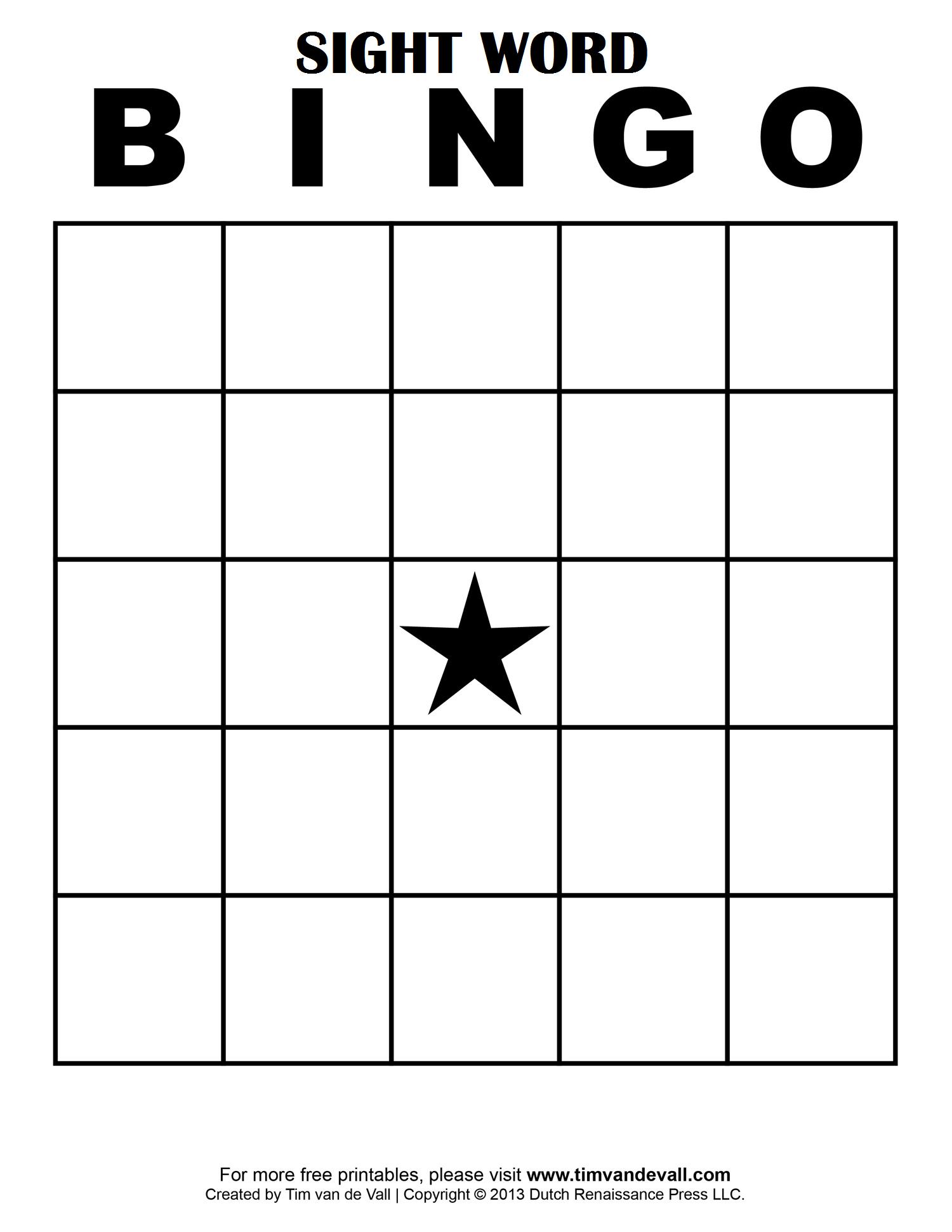Sight Word Bingo … | School Classroom Ideas | Blank Bingo Throughout Blank Bingo Card Template Microsoft Word