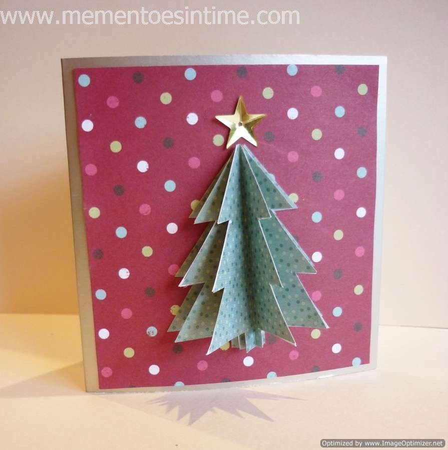 Simple 3D Christmas Card | Cut & Paste | Christmas Card Intended For 3D Christmas Tree Card Template