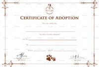 Simple Adoption Certificate Template throughout Pet Adoption Certificate Template