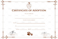 Simple Adoption Certificate Template with Blank Adoption Certificate Template