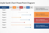 Simple Gantt Chart Powerpoint Diagram inside Project Schedule Template Powerpoint
