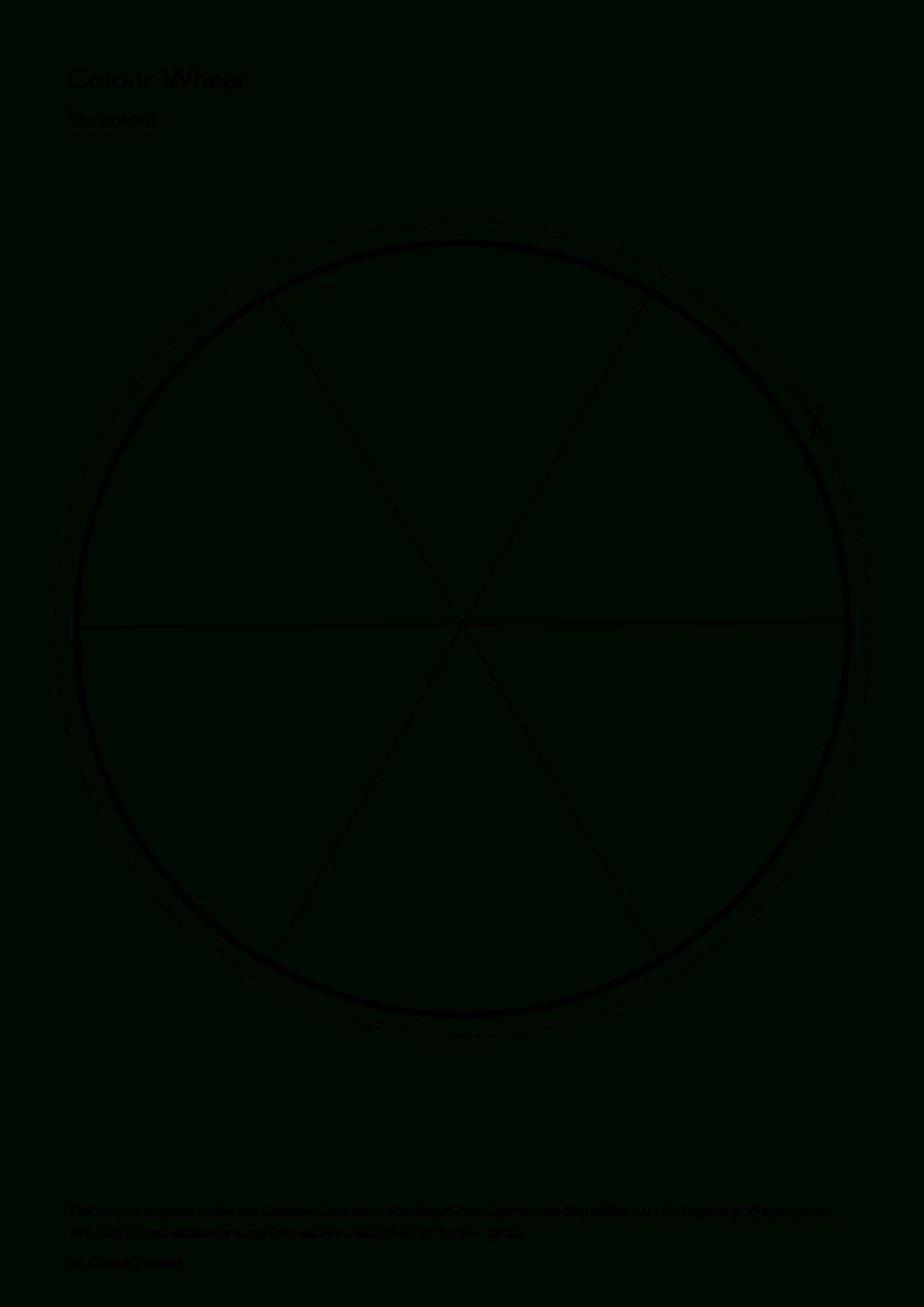 Simple Six Colour Colour Wheel   Art Websites   Color Wheel Throughout Blank Color Wheel Template