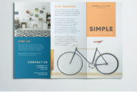 Simple Tri Fold Brochure | Design Inspiration | Graphic inside Tri Fold Brochure Template Indesign Free Download