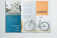 Simple Tri Fold Brochure | Free Indesign Template intended for 3 Fold Brochure Template Free Download