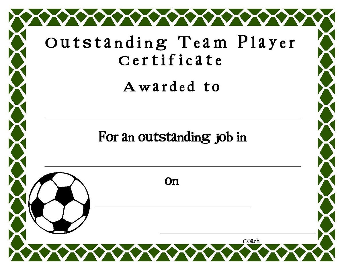 Soccer Award Certificates Template | Kiddo Shelter | Blank Regarding Soccer Certificate Template Free