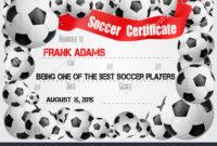 Soccer Certificate Template Football Ball Icons Stock Vector inside Soccer Certificate Template Free