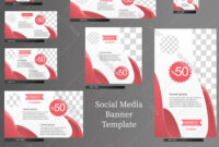Social Media Banner Template Set throughout Product Banner Template