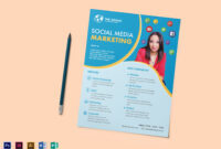 Social Media Marketing Flyer Template throughout Social Media Brochure Template