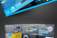Social Media Tri-Fold Brochure Corporate Identity Template pertaining to Social Media Brochure Template