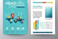 Social Network Concept Brochure Flyer Design Layout Template inside Social Media Brochure Template