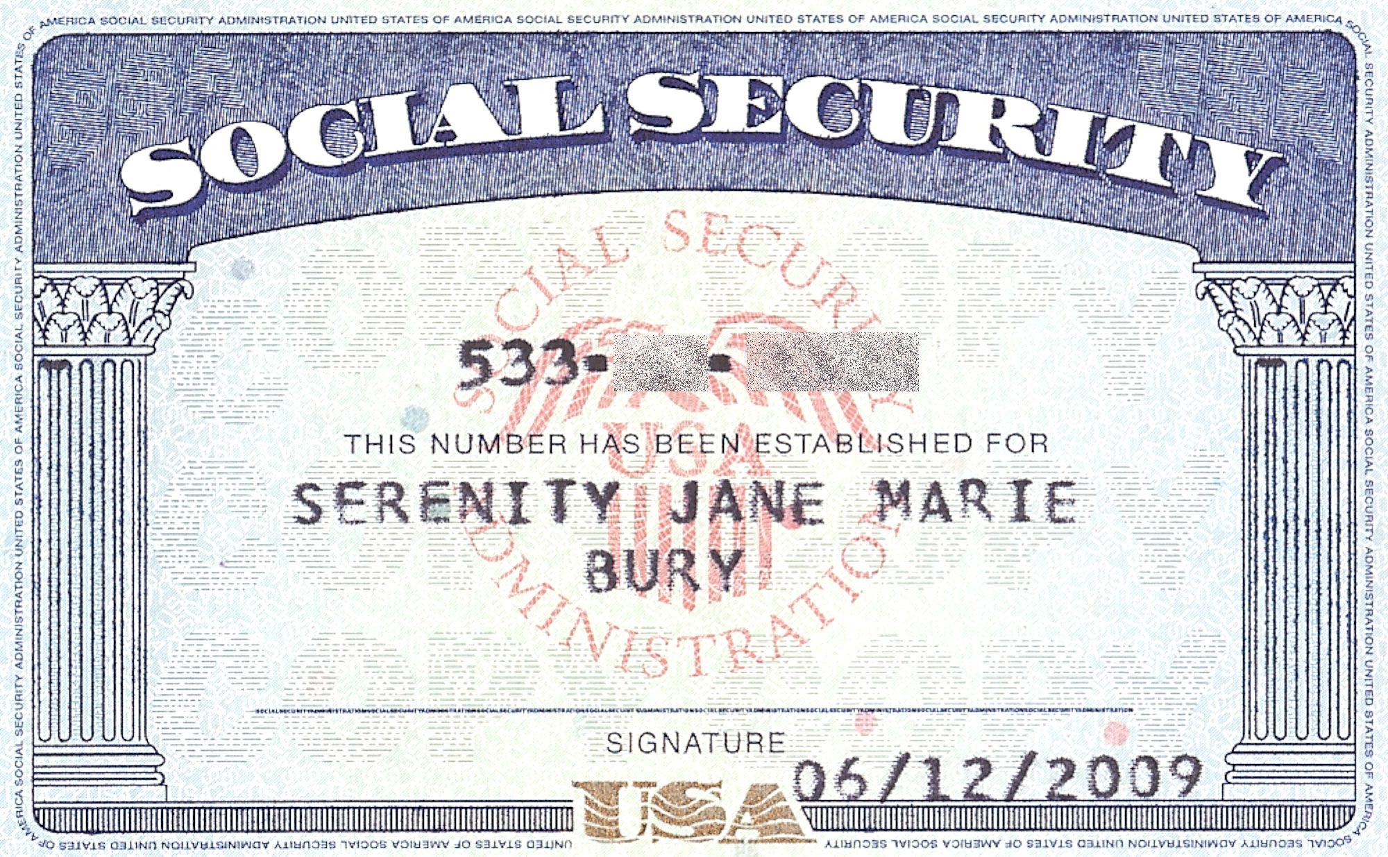 Editable social security card Intended For Editable Social Security Card Template