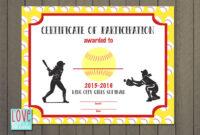 Softball Award Certificate Template – Taid.tk with regard to Softball Certificate Templates