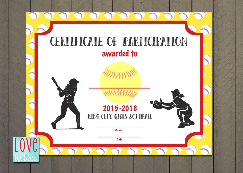 Softball Award Certificate Template - Taid.tk Within Free Softball Certificate Templates