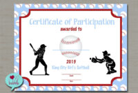 Softball Certificate Templates – Atlantaauctionco with Free Softball Certificate Templates