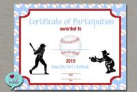 Softball Certificate Templates – Atlantaauctionco with regard to Softball Certificate Templates