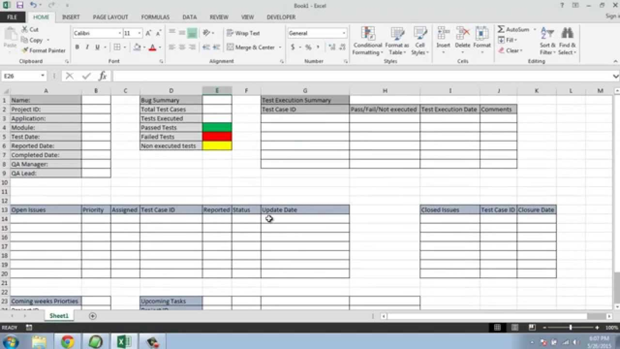 Software Testing Weekly Status Report Template Inside Test Case Execution Report Template