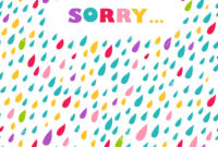Sorry' Card. Drops Background. Stock Vector – Illustration with regard to Sorry Card Template