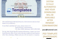 Ssn Usa Social Security Number Template regarding Social Security Card Template Photoshop