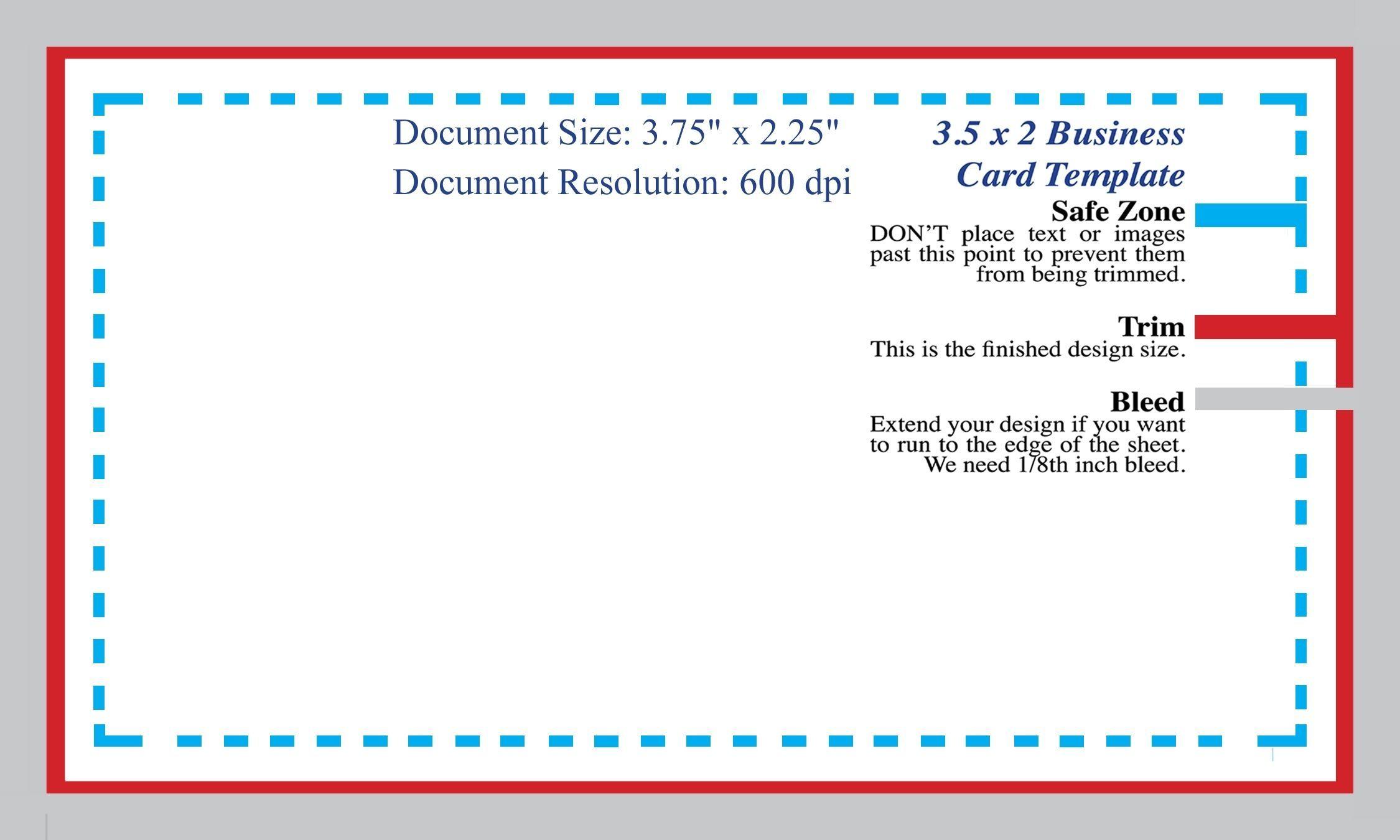 Standard Business Card Blank Template Photoshop Template Intended For Business Card Size Template Psd