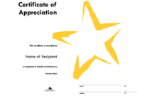 Star Award Certificate Templates Free Image with Star Certificate Templates Free