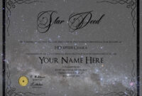 Star Naming Certificate Template – Atlantaauctionco with Star Naming Certificate Template