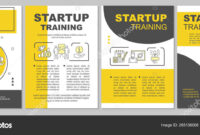 Startup Training Brochure Template Layout — Stock Vector intended for Training Brochure Template