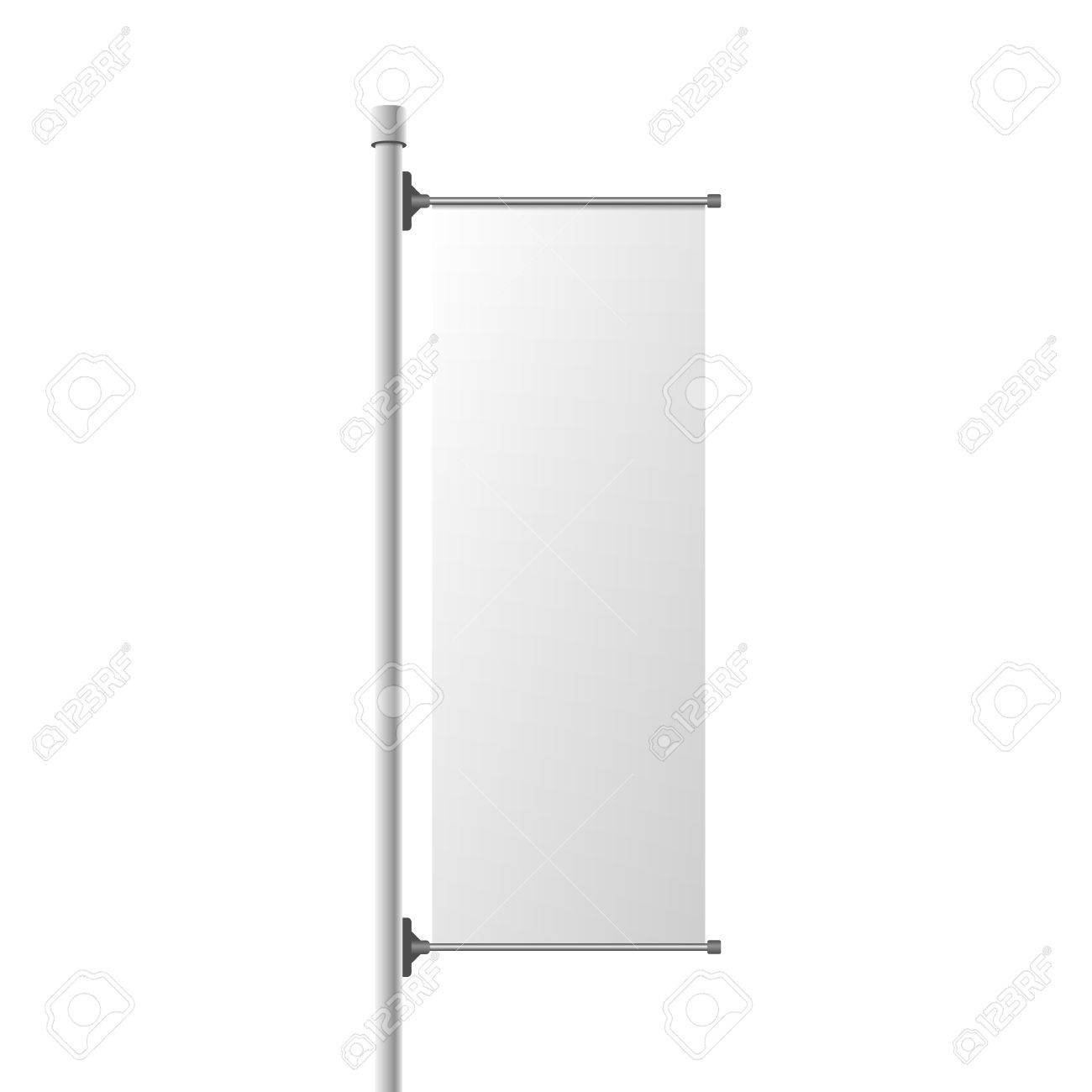 Street Banner Realistic Mockup. Commercial Billboard Template.. Pertaining To Street Banner Template
