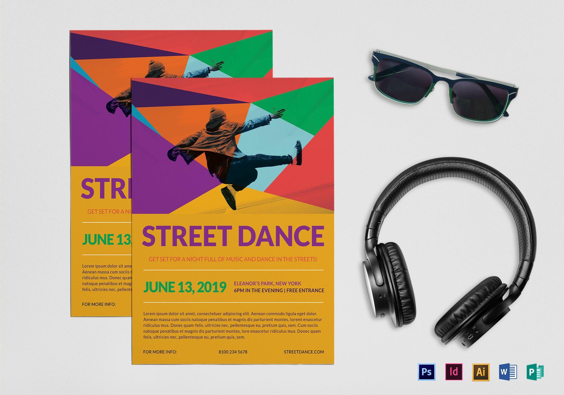Street Dance Flyer Template Regarding Dance Flyer Template Word
