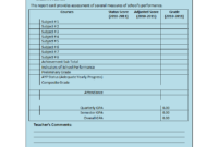 Student Report Template throughout High School Student Report Card Template
