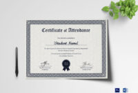 Students Attendance Certificate Template pertaining to Attendance Certificate Template Word