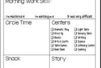 Students' Stuff | Preschool Fun | Preschool Daily Report intended for Preschool Weekly Report Template