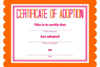 Stuffed Animal Adoption Party Detail-Oriented Diva! | Party with Pet Adoption Certificate Template