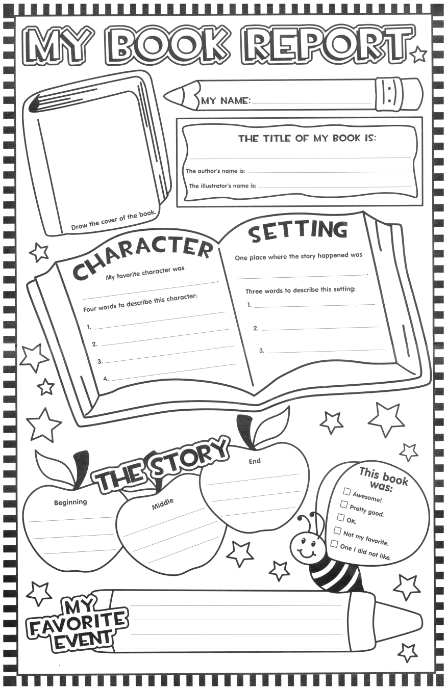 Such A Fun Looking Page For The Kids To Fill Out After For First Grade Book Report Template